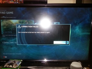 halo master Chief Collection Connection Failed
